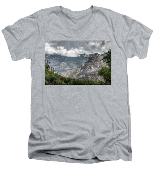 Catalina Mountains Men's V-Neck T-Shirt by Tam Ryan