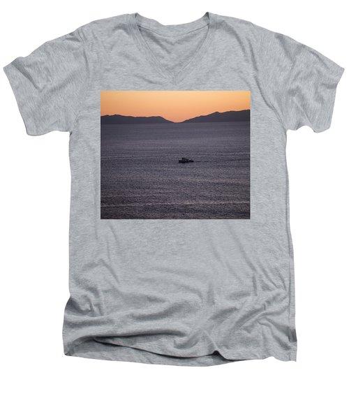 Catalina Orange Men's V-Neck T-Shirt