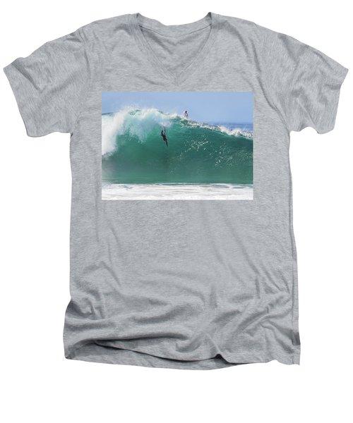 Catch Me Men's V-Neck T-Shirt by Joe Schofield