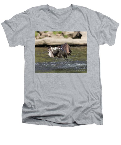 Catch Of The Day Men's V-Neck T-Shirt by Ursula Lawrence
