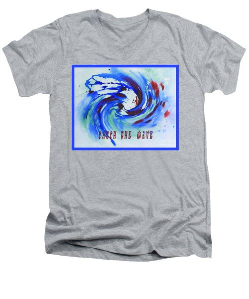 Catch The Wave Men's V-Neck T-Shirt