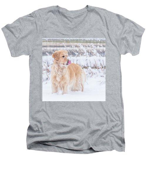Catching Snowflakes Men's V-Neck T-Shirt