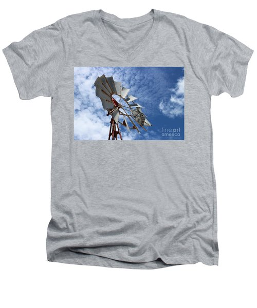 Men's V-Neck T-Shirt featuring the photograph Catching The Breeze by Stephen Mitchell