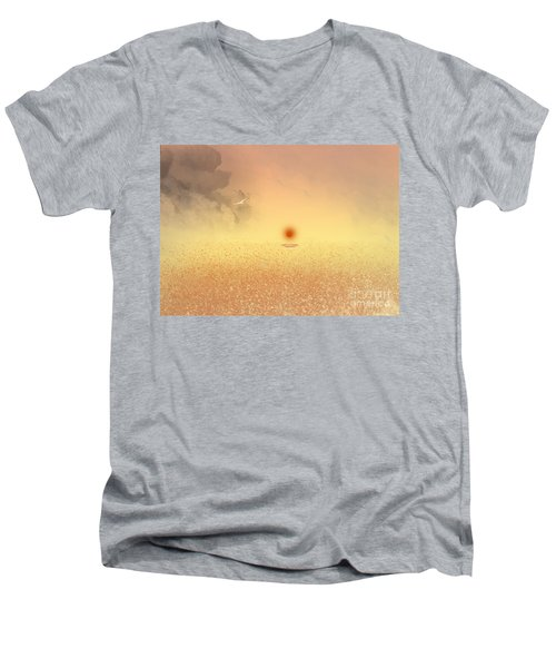 Catching The Light Men's V-Neck T-Shirt by Trilby Cole