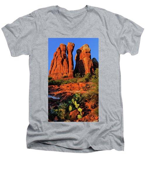 Cathedral 06-074 Men's V-Neck T-Shirt