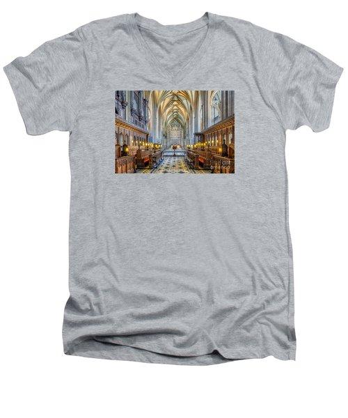 Cathedral Aisle Men's V-Neck T-Shirt