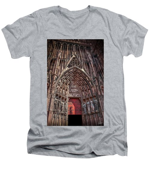 Cathedral Entance Men's V-Neck T-Shirt