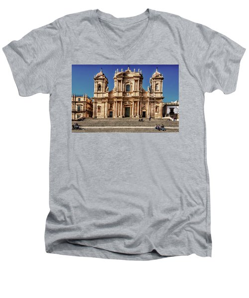 Cathedral II Men's V-Neck T-Shirt by Patrick Boening