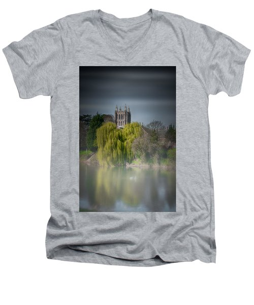 Cathedral In The Mist Men's V-Neck T-Shirt