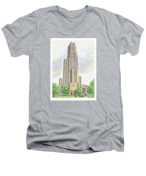 Cathedral Of Learning Men's V-Neck T-Shirt