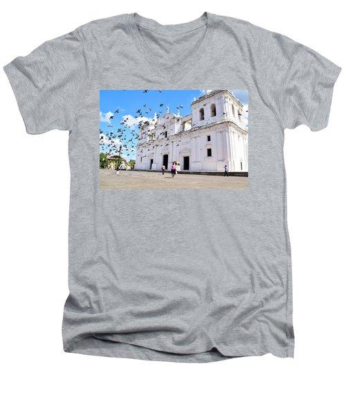 Cathedral Of Leon Men's V-Neck T-Shirt