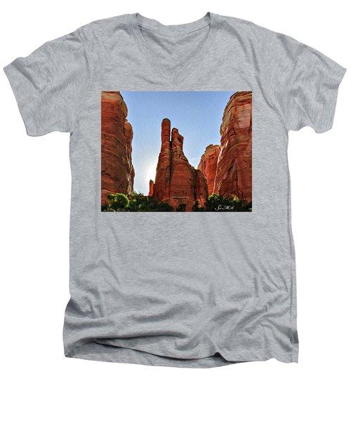 Cathedral Rock 05-155 Men's V-Neck T-Shirt