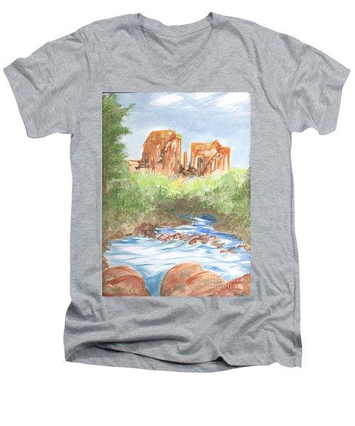 Cathedral Rock 2,  Sedona, Az. Men's V-Neck T-Shirt