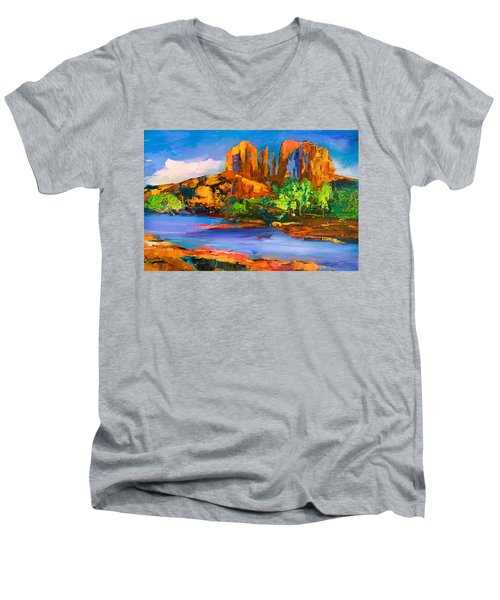 Cathedral Rock Afternoon Men's V-Neck T-Shirt