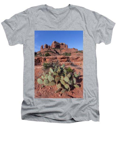 Cathedral Rock Cactus Grove Men's V-Neck T-Shirt
