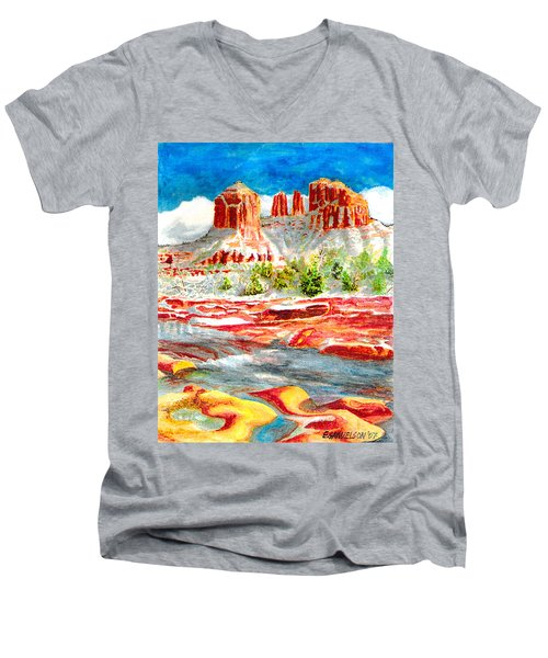 Cathedral Rock Crossing Men's V-Neck T-Shirt