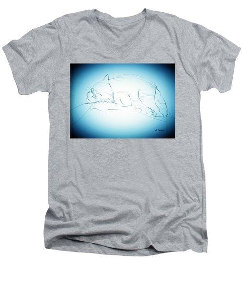 Catnap Men's V-Neck T-Shirt