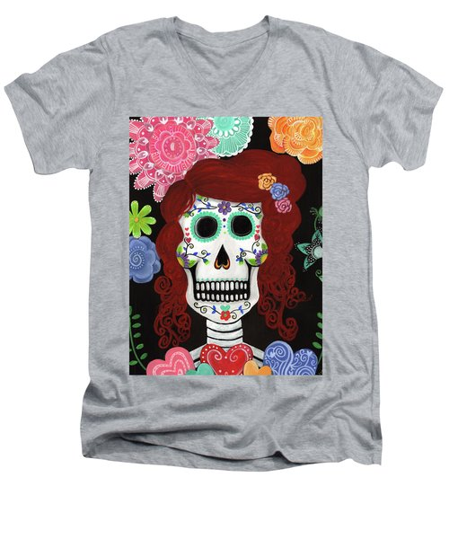 Catrina's Garden Men's V-Neck T-Shirt