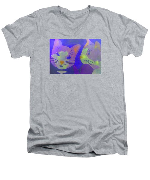 Cats On A Wall Men's V-Neck T-Shirt