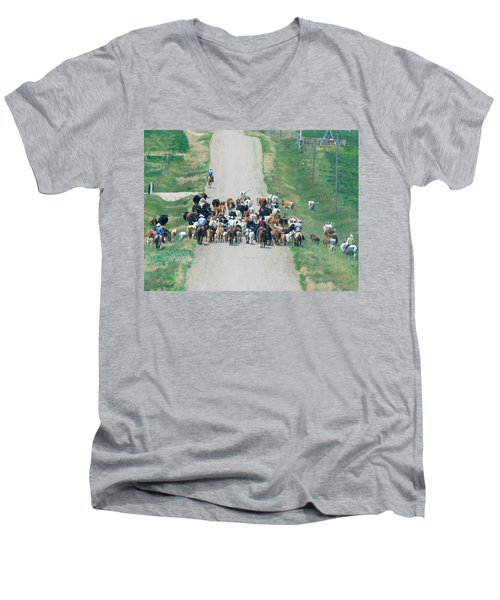 Cattle Drive Men's V-Neck T-Shirt