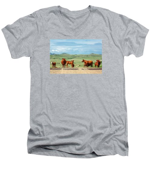 Cattle Guards Men's V-Neck T-Shirt