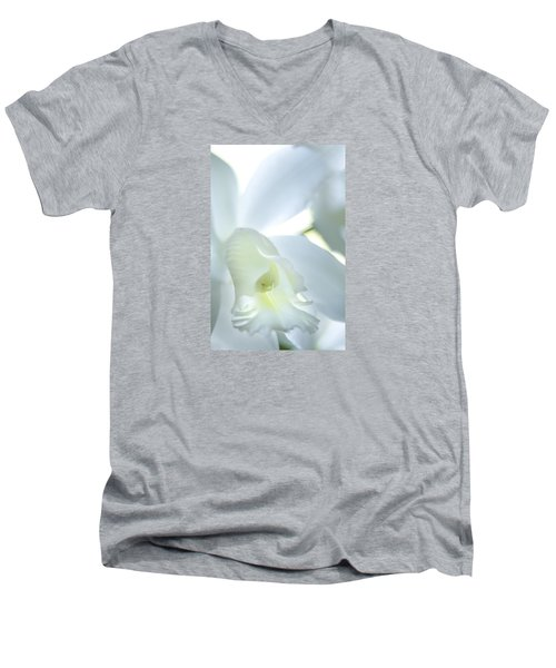 Cattleya Orchid #1 Men's V-Neck T-Shirt by George Robinson