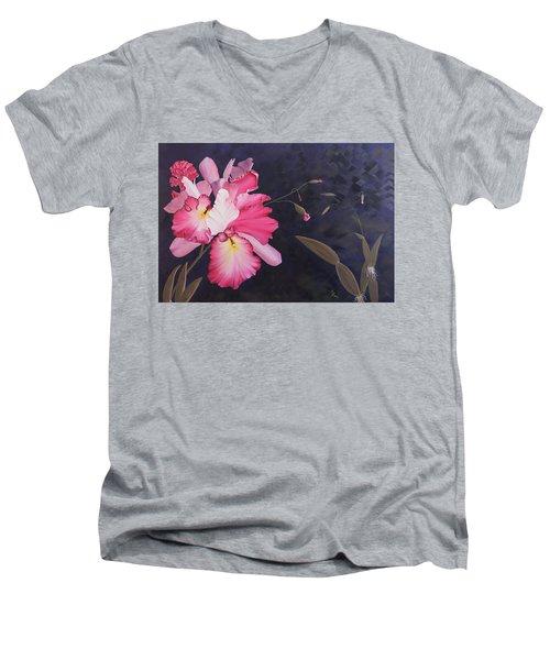 Cattleya Men's V-Neck T-Shirt