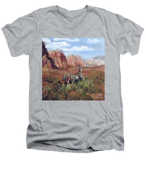 Caught In The Brush Men's V-Neck T-Shirt