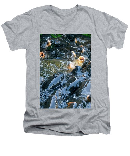 Caught In The Masses Men's V-Neck T-Shirt