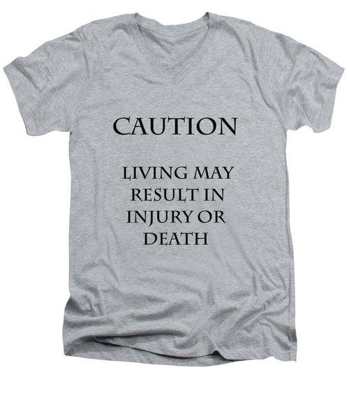 Caution Men's V-Neck T-Shirt