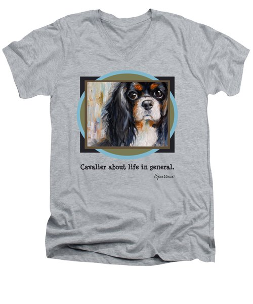 Cavalier About Life  Men's V-Neck T-Shirt