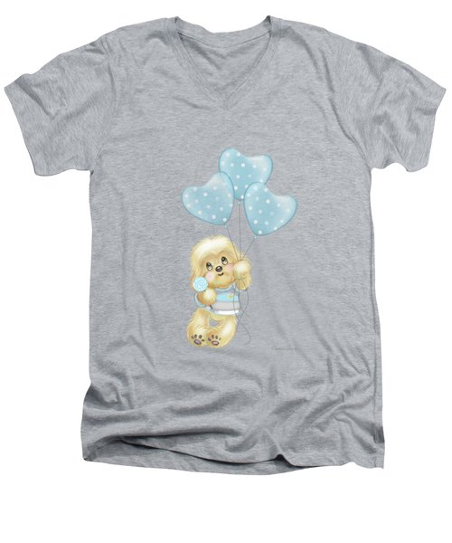 Cavapoo Toby Baby Men's V-Neck T-Shirt