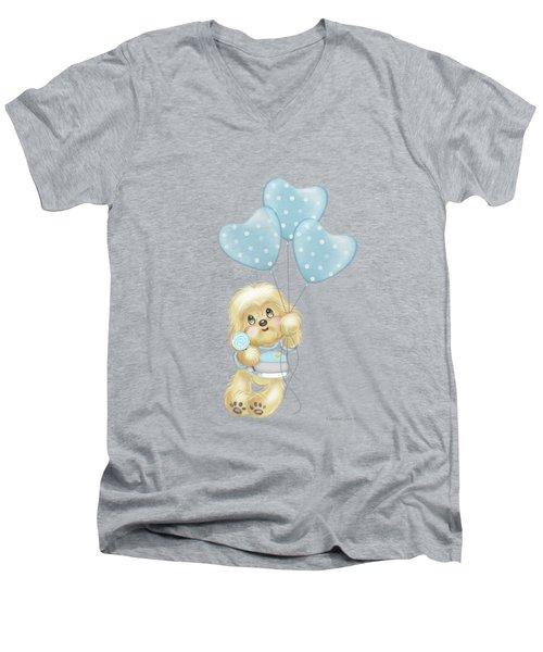 Cavapoo Toby Baby Men's V-Neck T-Shirt