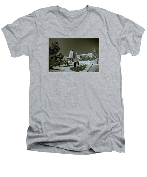 Cave Of The Patriarchs Back Yard Men's V-Neck T-Shirt