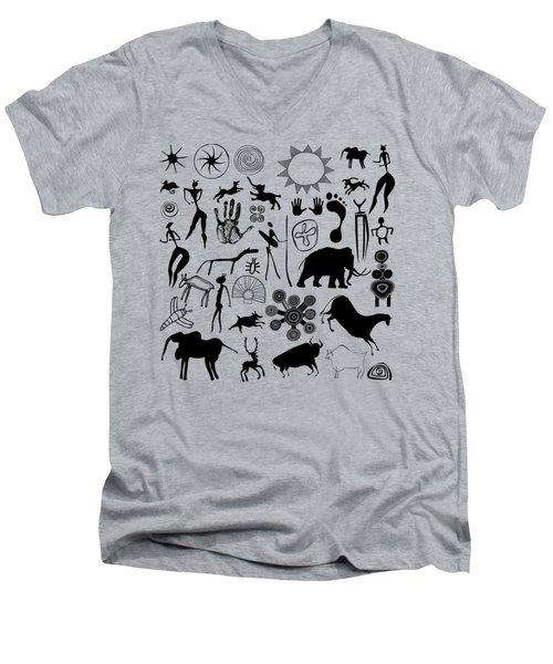 Cave Painting Men's V-Neck T-Shirt