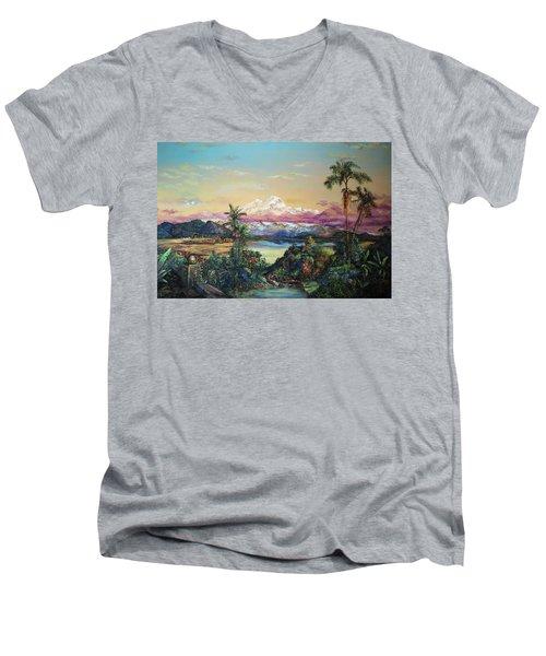Cayambe-ish Men's V-Neck T-Shirt