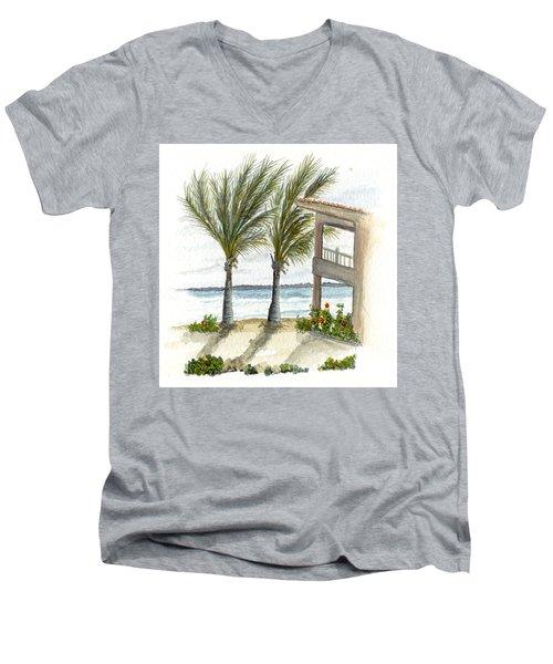 Cayman Hotel Men's V-Neck T-Shirt