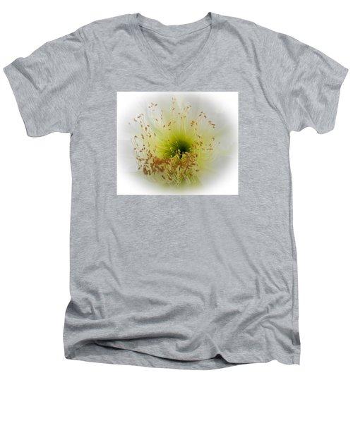 Cctus Flower Men's V-Neck T-Shirt by Christy Usilton