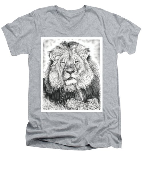 Cecil The Lion  Men's V-Neck T-Shirt