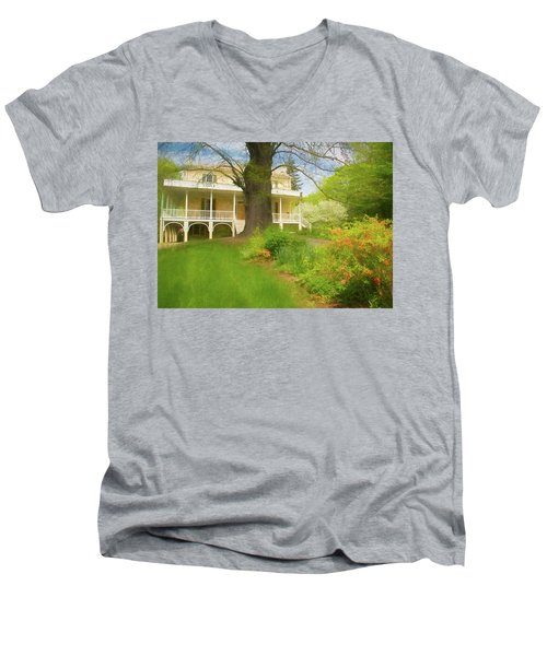 Cedar Grove In Spring Men's V-Neck T-Shirt