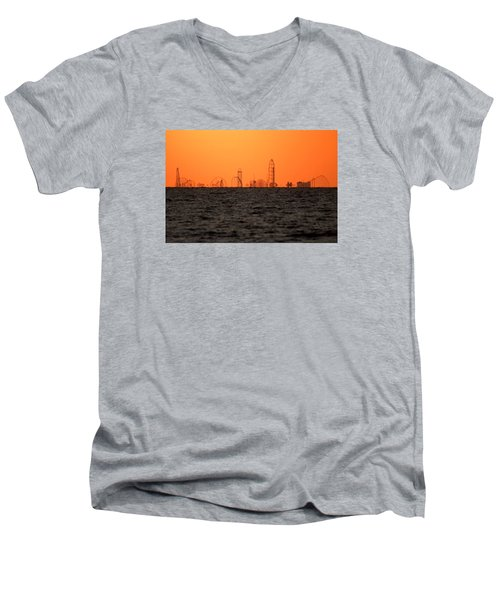 Cedar Point Skyline Men's V-Neck T-Shirt