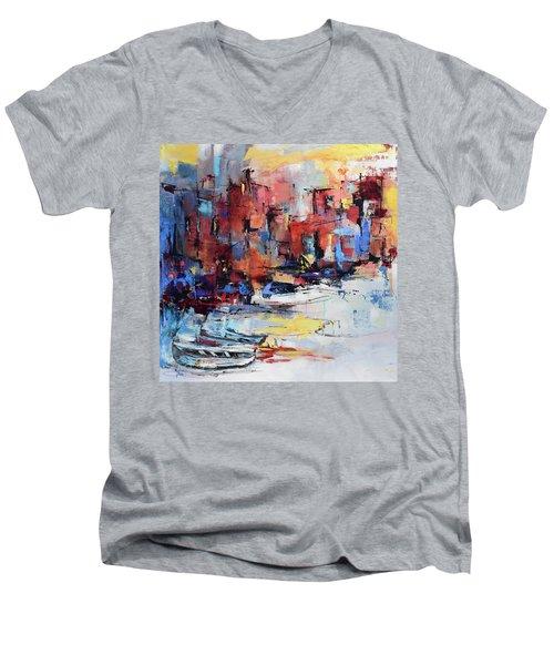 Cefalu Seaside Men's V-Neck T-Shirt