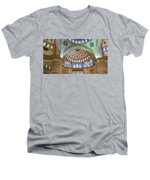 Ceiling Of Blue Mosque Men's V-Neck T-Shirt