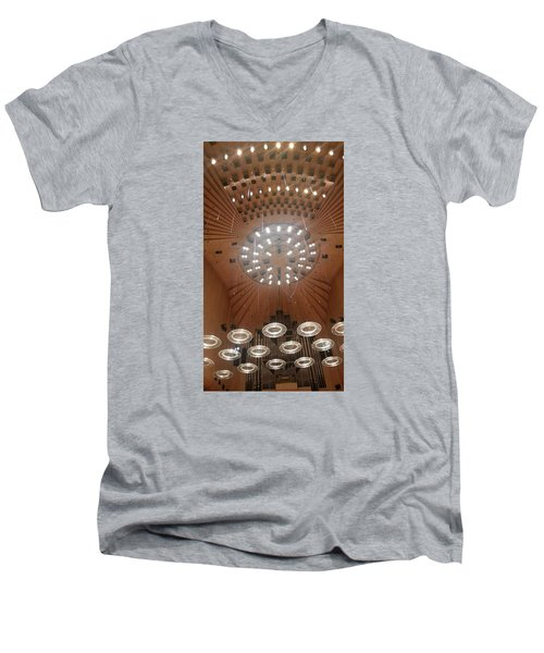 Ceiling Of Syndey Opera House Symphony Hall Men's V-Neck T-Shirt by Bev Conover