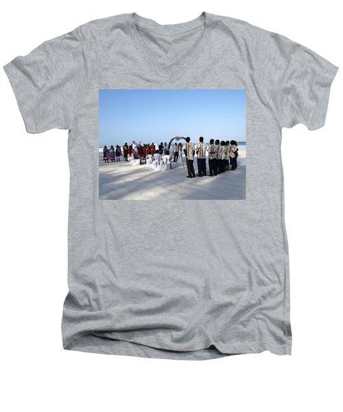 Celebrate Marriage In Kenya Men's V-Neck T-Shirt by Exploramum Exploramum