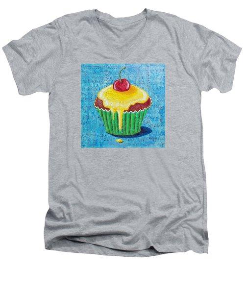 Men's V-Neck T-Shirt featuring the painting Celebration by Susan DeLain