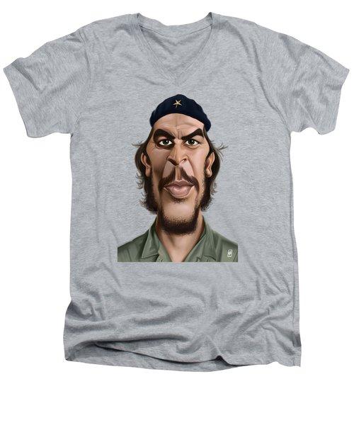 Celebrity Sunday - Che Guevara Men's V-Neck T-Shirt