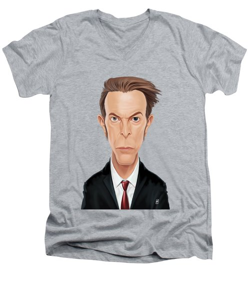 Celebrity Sunday - David Bowie Men's V-Neck T-Shirt