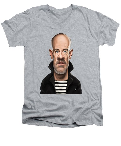 Celebrity Sunday - Michael Stipe Men's V-Neck T-Shirt by Rob Snow