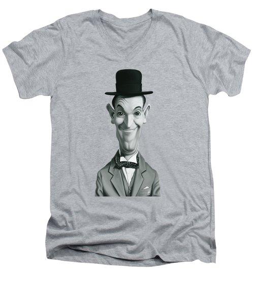 Celebrity Sunday - Stan Laurel Men's V-Neck T-Shirt